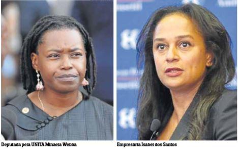Deputada Webba aconselha Isabel dos Santos a usar tribunais para recuperar património