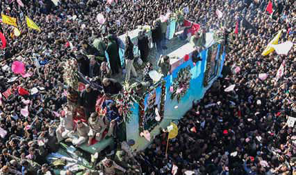 35 mortos no funeral do general Soleimani