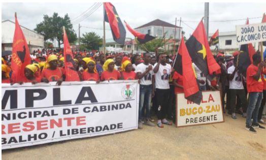 MPLA em CABINDA juntou-se no Belize para apoiar joão Lourenço
