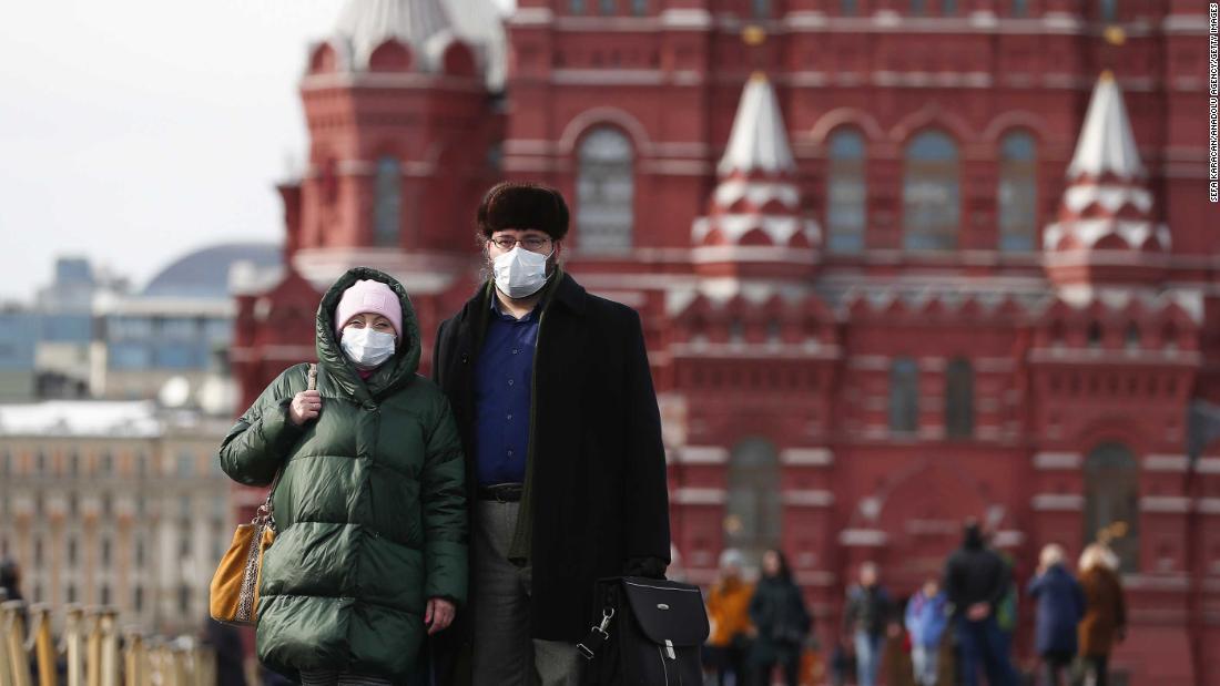 Casos da Covid-19 na Rússia ultrapassam 20 mil