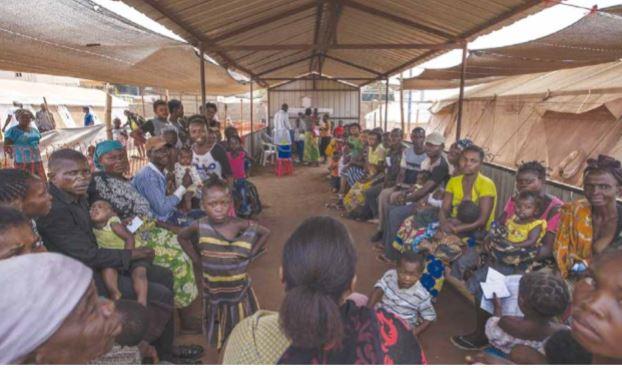 Refugiados da RDC no Lôvua recebem assistência e instruções para prevenção da covid-19