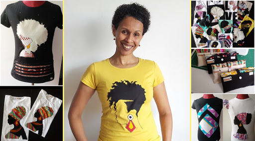 """Estilista Djamila Pereira quer conquistar mercado europeu com a marca de t-shirts """"Africanitas"""""""