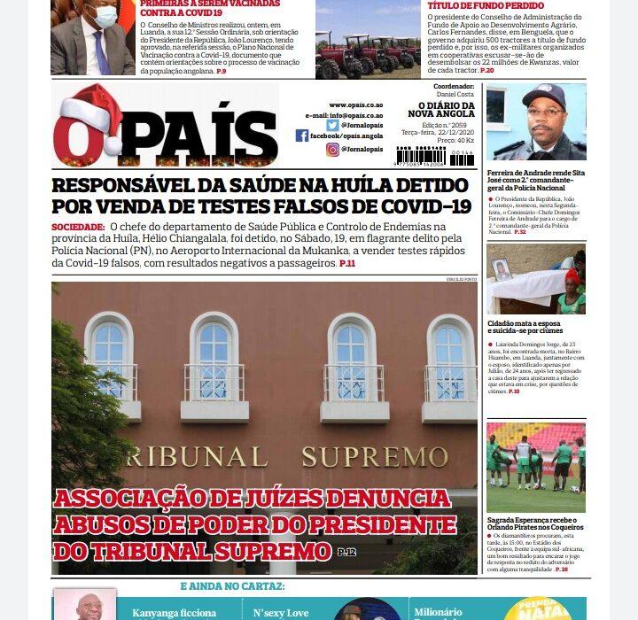 o editorial: Corrupção na Huíla
