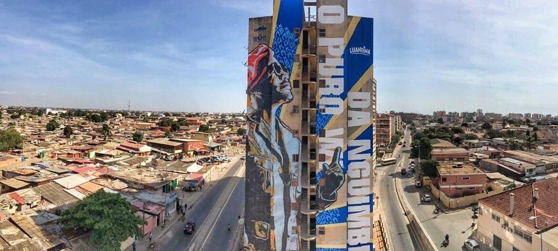"""Kolectivo Baúka """"eterniza"""" kudurista Nagrelha em mural no Sambizanga"""