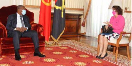Presidente Angolano aborda cooperação com diplomata  dos EUA