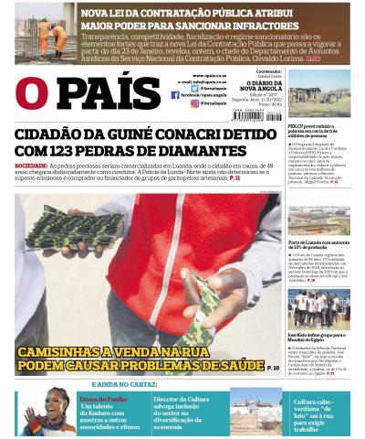 Capa Jornal OPais edição 2077