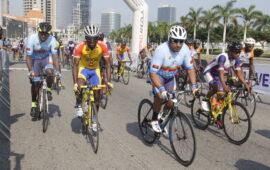 Ciclistas testam à Covid-19