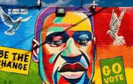 Inaugurado mural em homenagem a George Floyd em frente à sua escola