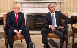 Obama e Trump em lados diferentes de guerra política que se joga através do basebol