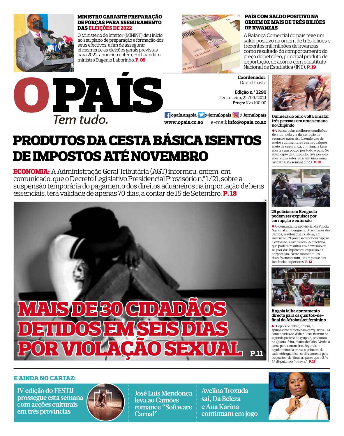 Editorial: Angola nos EUA